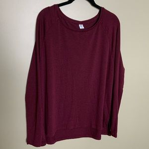 Old Navy luxe burgundy long sleeve tunic size L